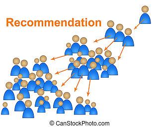 conferma, vouched, mostra, raccomandazioni, raccomandare