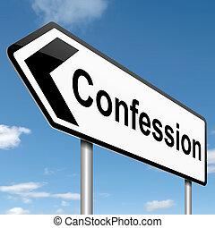 confesión, concept.