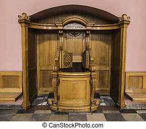 Confessional in the church