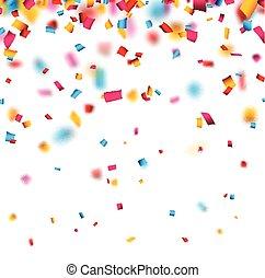 confeti, celebración, fondo.