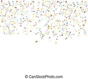 confeti, cumpleaños, plano de fondo