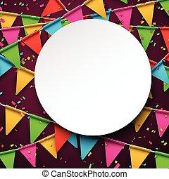 confeti, fondo., celebración