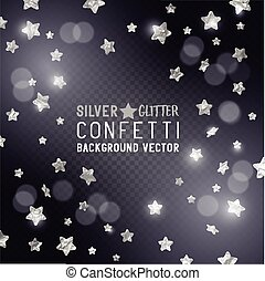 confetti, étoile, argent