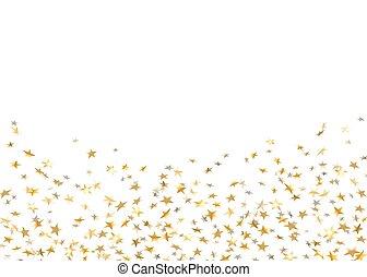 confetti, étoile, or, fond