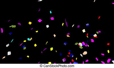 Confetti 6 in 1 - Full HD confetti animation pack with alpha...