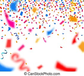 confetti, abstract, papier, achtergrond, kleurrijke
