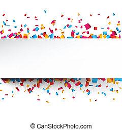 confetti, achtergrond., viering