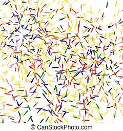 Confetti background. Vector illustration.