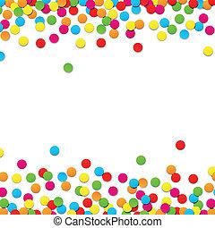 confetti, baggrund., fest