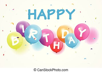 confetti, balloon, fødselsdag, glade