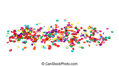 confetti, barwny