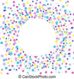 confetti, branca, coloridos, fundo