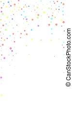 confetti., c, captiver, célébration, stars., fête