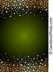 confetti, cadre, vert, or