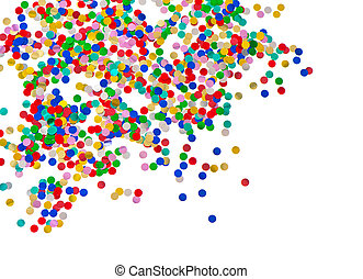 Confetti carnival background Red blue green yellow
