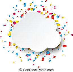 Confetti celebration background. - Colorful celebration...