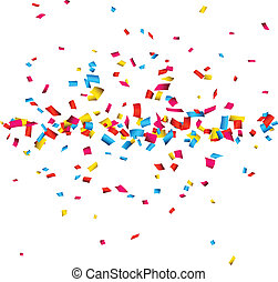 Confetti celebration background. - Colorful celebration...