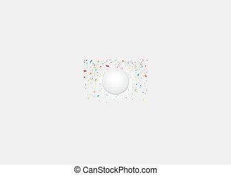 confetti, coloridos, celebração