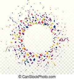 confetti, coloridos, fundo, celebração