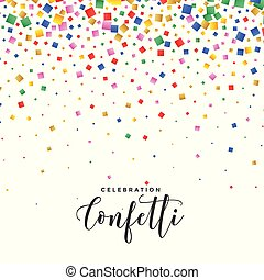 confetti, couleurs, tomber, fond