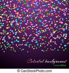 confetti, décoration, tomber