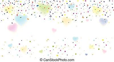confetti, decoração
