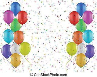 confetti, e, balões, 0108