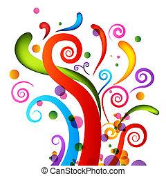 confetti, elementos, celebração