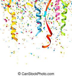 Confetti - Colorful confetti isolated on white background