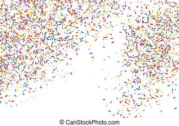 confetti., explosión, textura, coloreado, colorido, granoso...