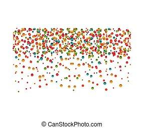 confetti explosion decoration