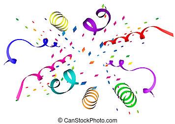 Confetti Explosion - Confetti explosion in different colors...