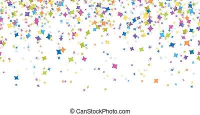confetti, fête, seamless, fond