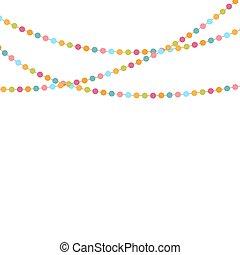 confetti, fête, vecteur, fond, illustration