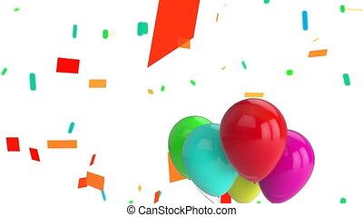 confetti, flotter, ballons
