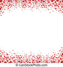 Confetti Hearts White Centre Cover - Colored confetti hearts...