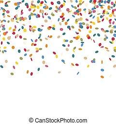 confetti, het vallen, eindeloos