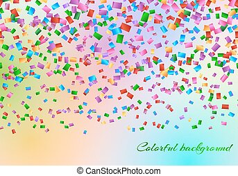 Confetti in the air backdrop