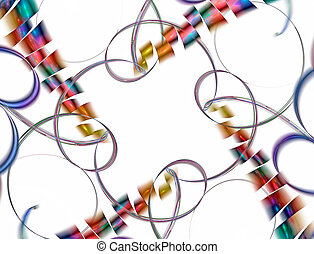 Confetti isolated on white background. Useful for birthday,...