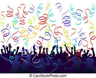 confetti, jubilation