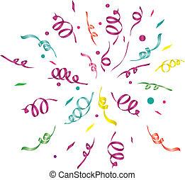 confetti (light background)/ vector illustration