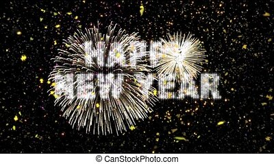 confetti, nowy, fajerwerki, rok