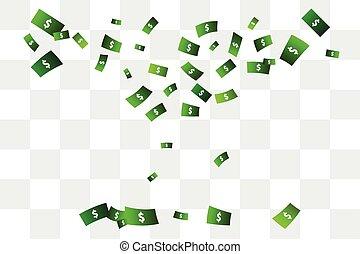 Confetti of dollars