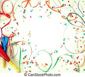 Confetti on retro background - Holiday confetti on retro...