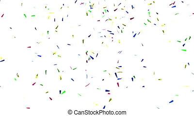 Confetti on White, alpha matte