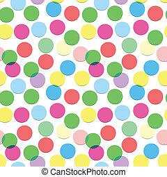 confetti, padrão, cores, seamless, doce