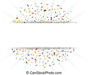 confetti, papier, viering