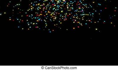 Confetti particle CG animation