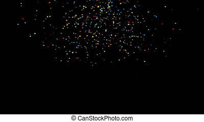 Confetti particle CG animation. Seamless loop
