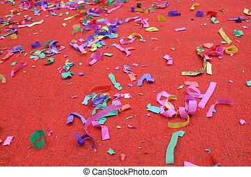 confetti, partido, abstratos